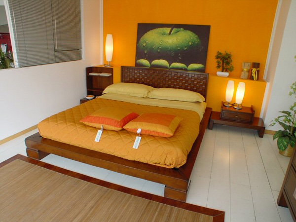 green and orange bedroom ideas