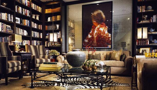 Interior design fine art home designs project for Home library ideas design