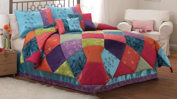 kids rainbow bedding