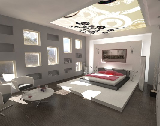 luxury modern bedroom lighting