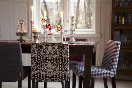 mixed chairs in dining room