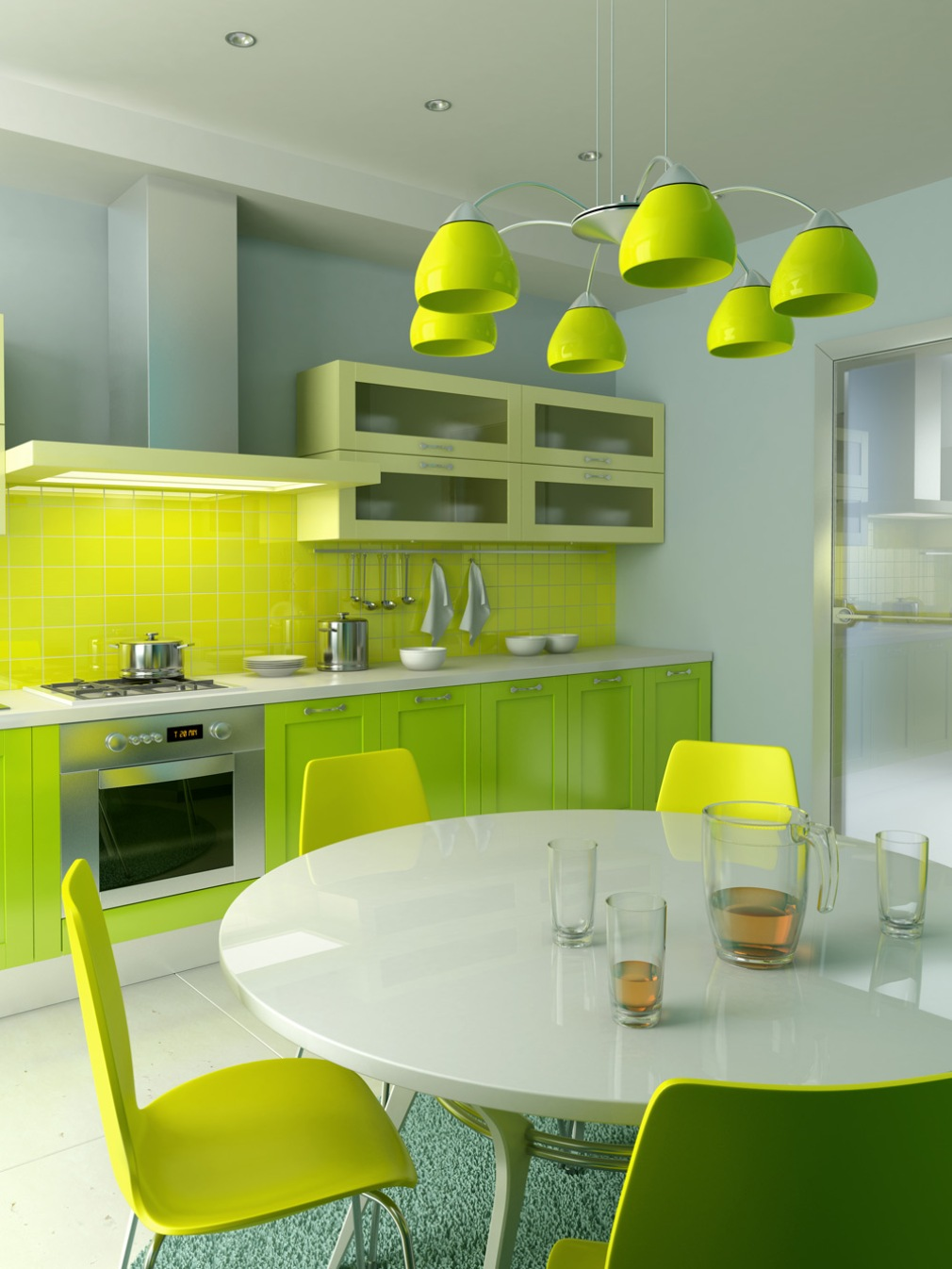 Modern Kitchen Plan for Vibrant Atmosphere in Your Kitchen