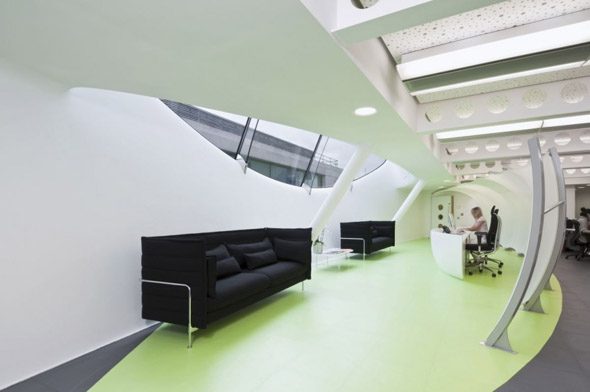 modern office waiting area