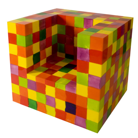 multi colored armchair