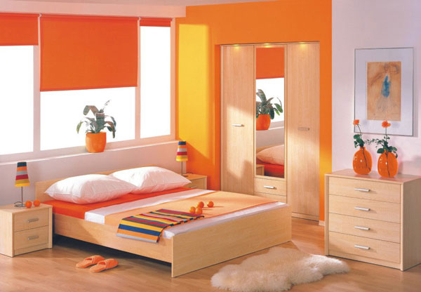 orange bedroom ideas for girls