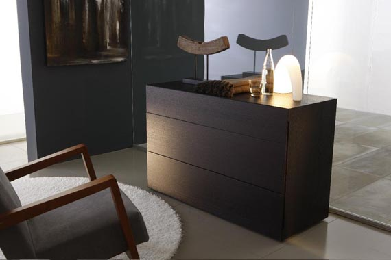 stylish little black dresser