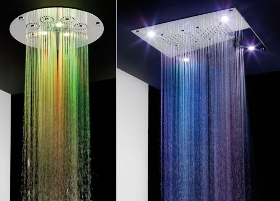 coloured shower