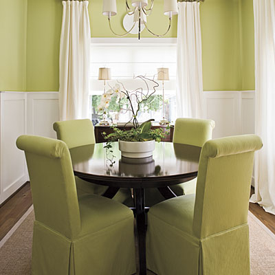 Small dining room decor home designs project for Dining room curtains ideas