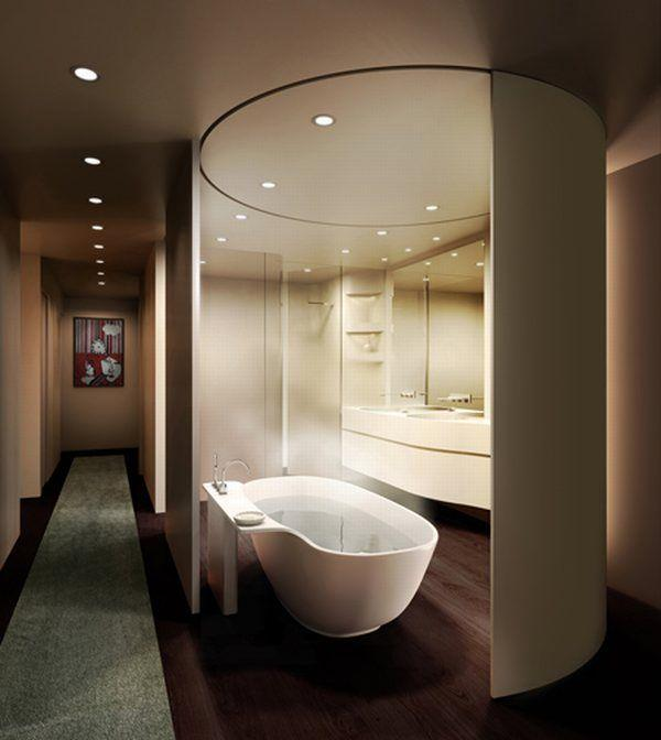 Contemporary bathroom design ideas home designs project for Home restroom ideas