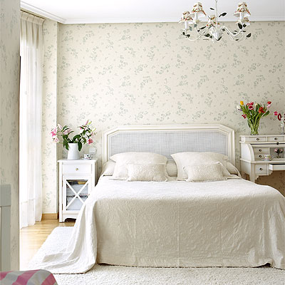 Vintage bedroom ideas for women home designs project - Papel pared dormitorio ...
