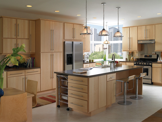 Natural modern kitchen ideas home designs project for Modern kitchen lighting design