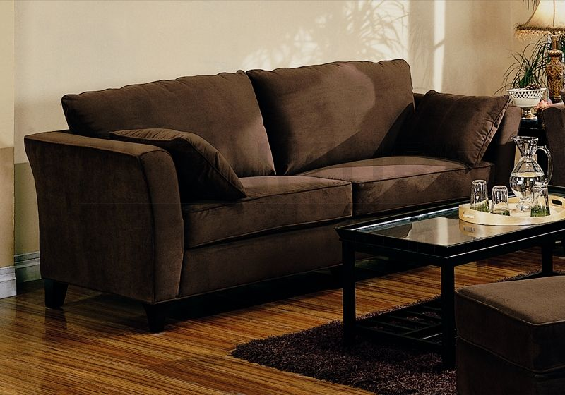 Simple brown sofa home designs project for Brown sofa living room design ideas