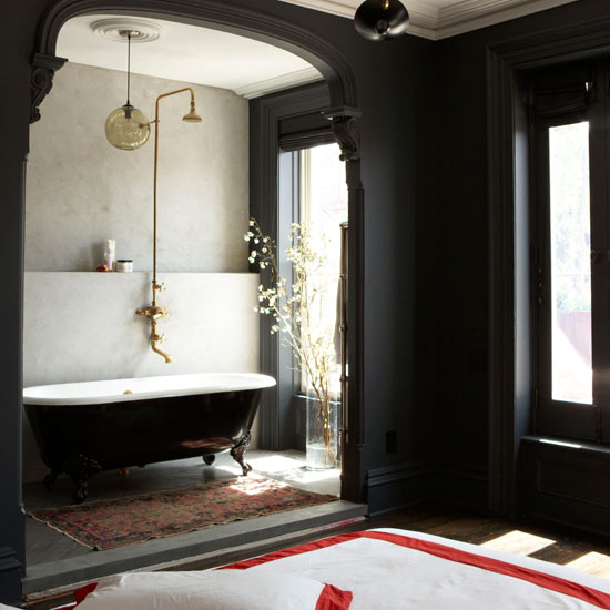 Black and white vintage bathroom ideas home designs project for Black white bathroom ideas