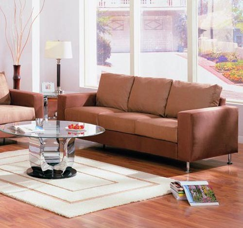 Brown Couch Living Room Design: Home Designs Project
