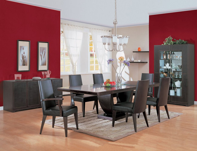 Contemporary dining room decorating ideas home designs for Modern dining room color ideas