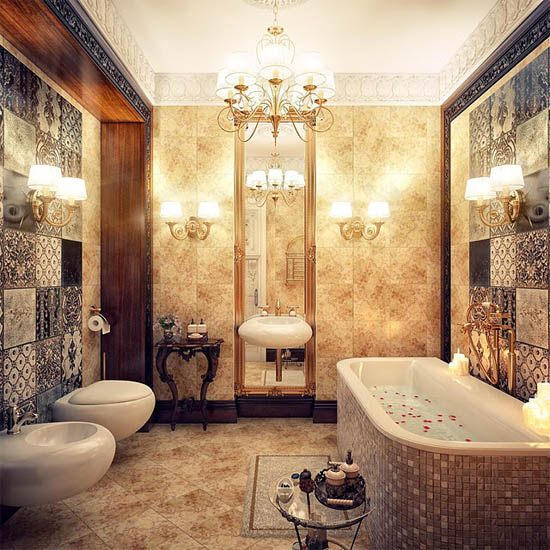 Vintage bathroom ideas home designs project for Toilet interior design ideas