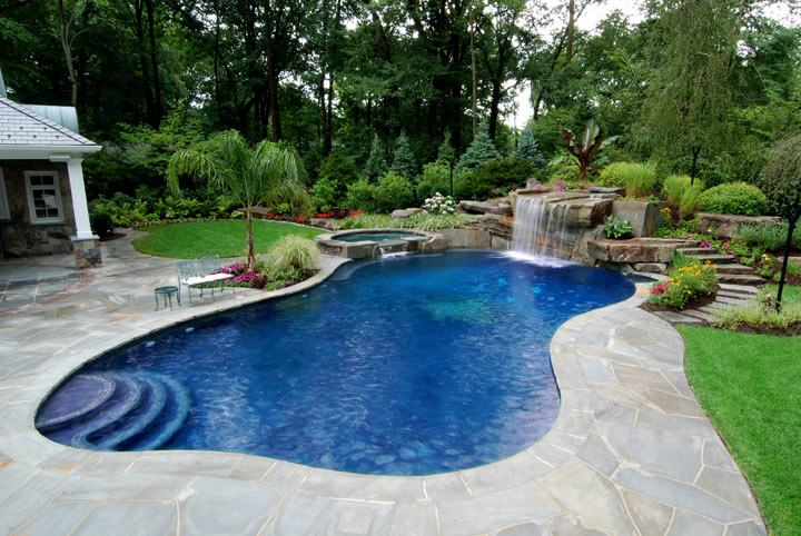 Pool designs for small yards home designs project for Small backyard designs with pool