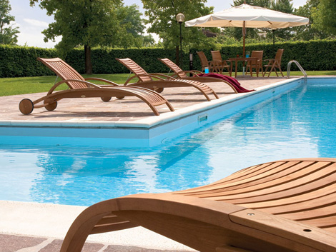 Beautiful terrace and poolside furniture sets home for Pool patio furniture