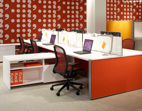 Bright Color Office Desks