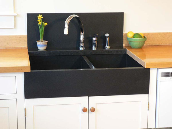 black granite sink