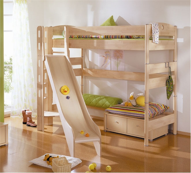 Cool Bunk Beds with Slides for Kids 662 x 600