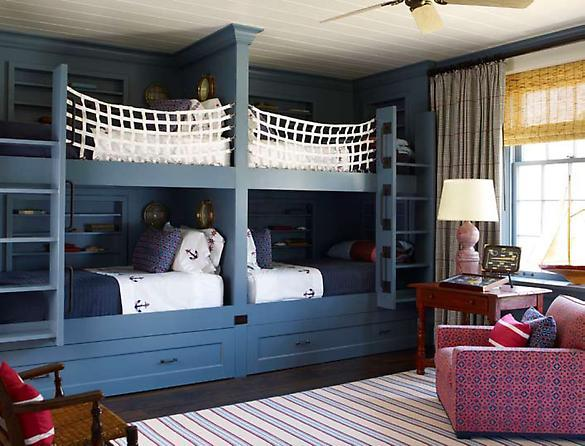 Kids room with bunk beds home designs project 4 beds in one room