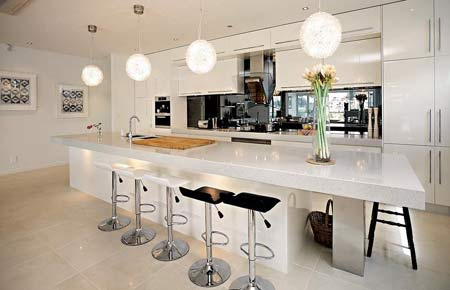 Large kitchen island design home designs project for Modern large kitchen design