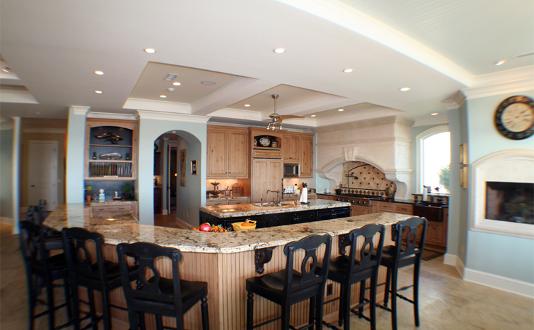 large kitchen island with seating and storage | Home ...