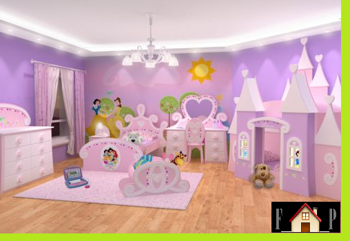 Kids room with extraordinary beds home designs project for Little princess room