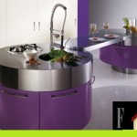 kitchen-with-rounded-modules-and-purple-color