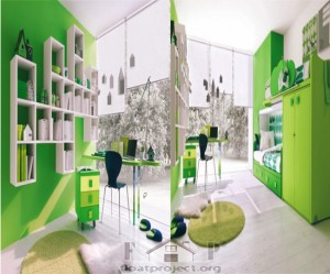 Green kids' room
