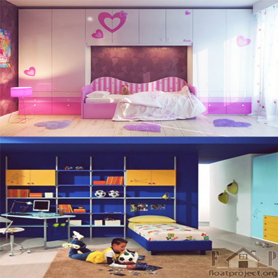 Children's room arrangement