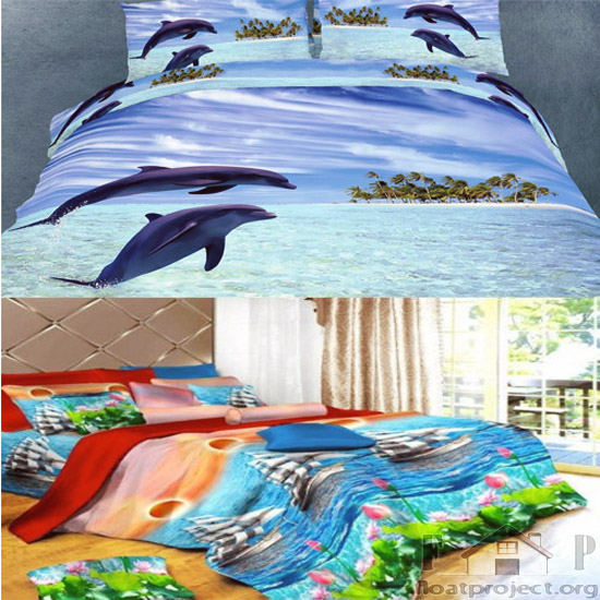 ocean-themed bedding set