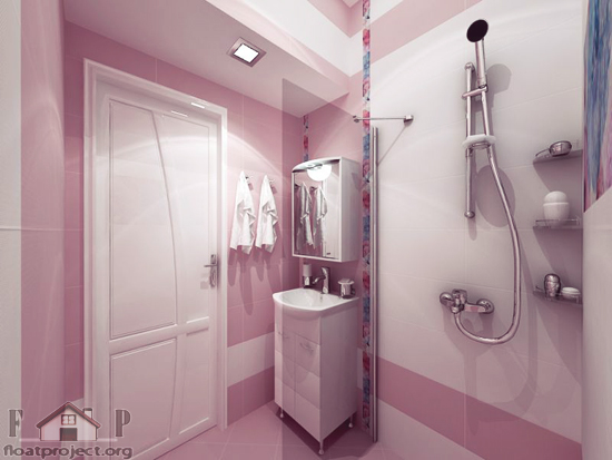 Bathroom Ideas With Pink : Small pink bathroom home designs project
