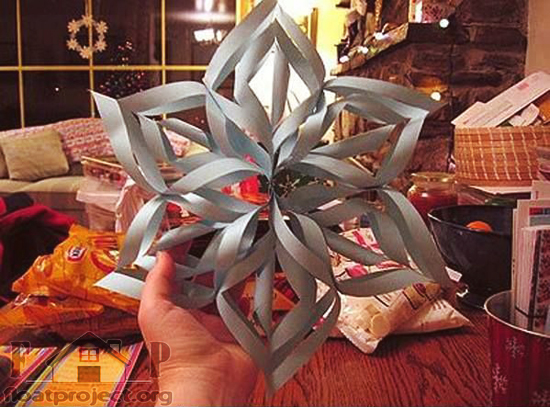 Cool diy paper snowflake home designs project for Diy paper snowflakes 3d