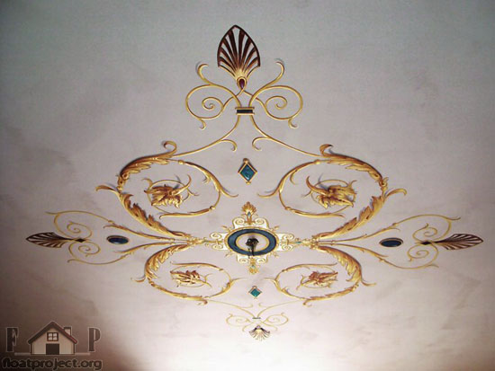 ceiling painting by Ilian Rachov