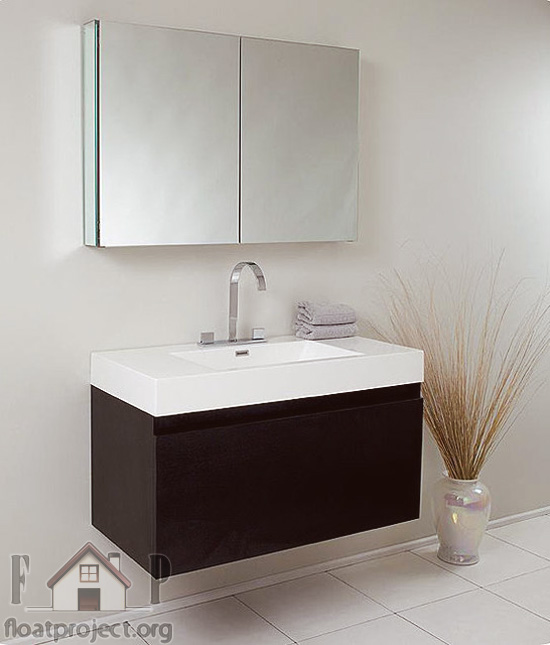 contemporary sink cabinet