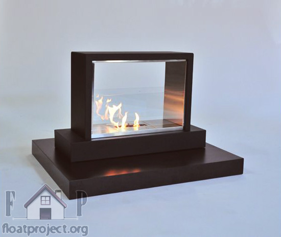 Contemporary fireplace design ideas home designs project for Eco friendly fireplace