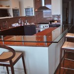 glass kitchen bar table
