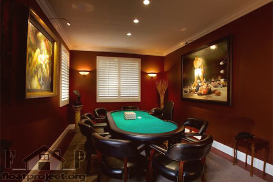 Home poker room