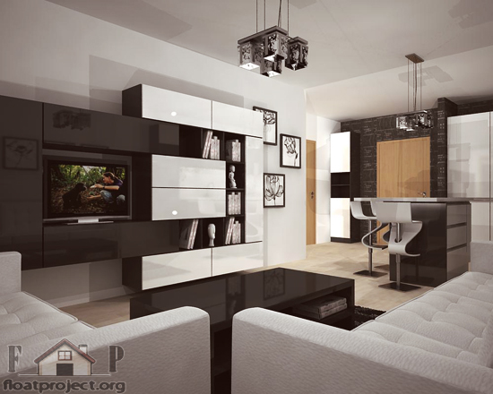New Style Living Room Design Modern House