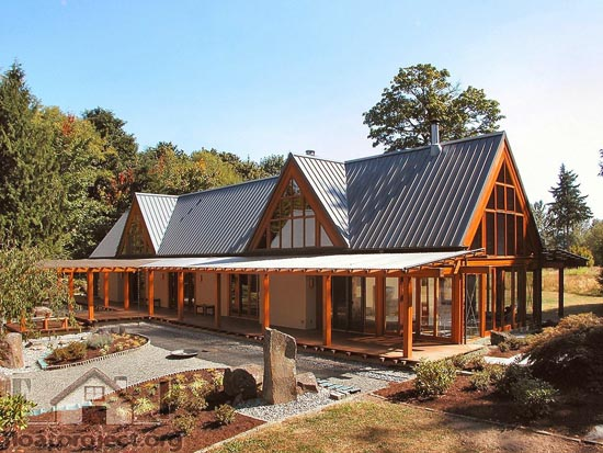 Amazing roof design home designs project for House plans with high pitched roofs