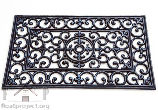 ornamental rubber doormat