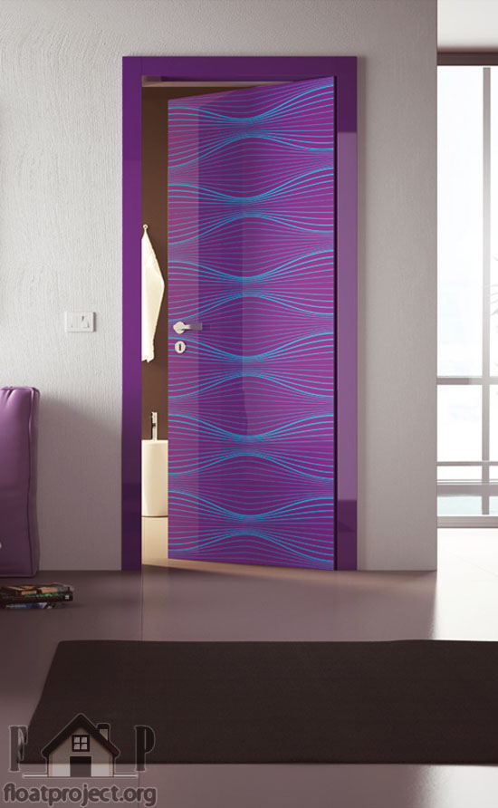 purple interior door