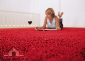 red fitted carpet