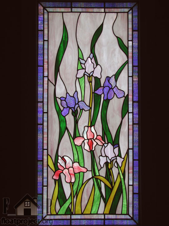stained glass interior door