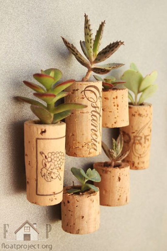 wine cork planter