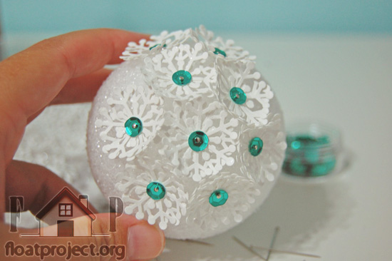 Styrofoam Ball Home Designs Project