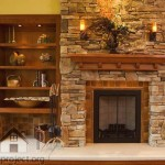 fireplace with decorative stones