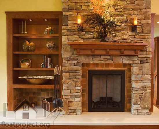 living room fireplace with classic design home designs project